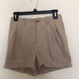 H&M High Wasted Camel Shorts Size 34